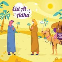 célébration de l'Aïd al adha vecteur