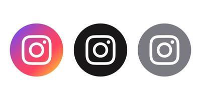 icône de médias sociaux logo instagram différents styles vecteur