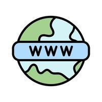 icône de vecteur www