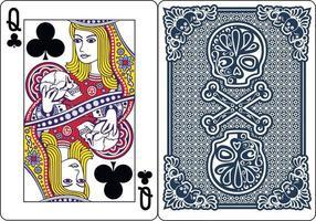 cartes à jouer exclusives au poker squelette vecteur