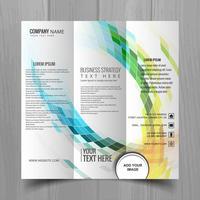 Abstrait business ondulé brochure modèle de conception vecteur
