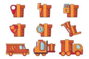 collection d'illustrations logistiques et de livraison vecteur