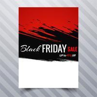 Conception de modèle de brochure abstraite vendredi noir vente affiche vecteur
