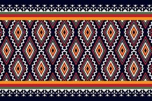 conception traditionnelle de modèle sans couture oriental ethnique géométrique pour le fond vecteur