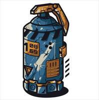 illustration d & # 39; une grenade fumigène vecteur