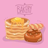 boulangerie pain crêpes vecteur