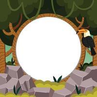 toucan perché sur une branche dans un modèle sur le thème de la jungle vecteur