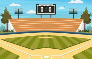 fond de terrain de softball vecteur