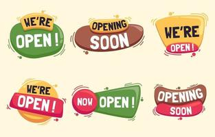 collections d'étiquettes commerciales ouvertes vecteur