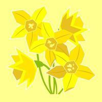 bouquet de jonquille de printemps jaune vecteur
