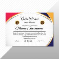 Certificat de création abstrait modèle de récompense vecteur