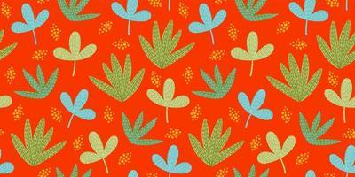 motif drôle lumineux avec des feuilles abstraites vecteur