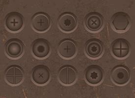 boulons et écrous mis en illustration vectorielle vecteur