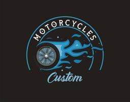 pneu de moto onfire vecteur