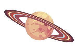 espace de la planète Saturne vecteur