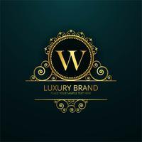 Vecteur de design floral brillant marque luxe