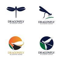 icône de vecteur pour le logo libellule