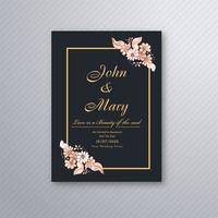 Modèle de carte d'invitation de mariage avec motif floral décoratif vecteur