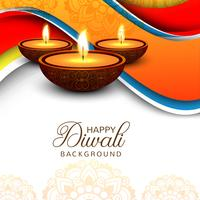 Fond de festival élégant joyeux brillant diwali vecteur