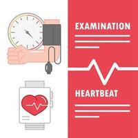 rythme cardiaque examen hypertension vecteur
