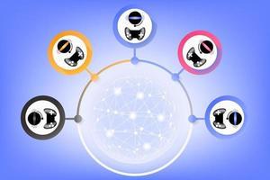 jouer au jeu en ligne vecteur signe symbole