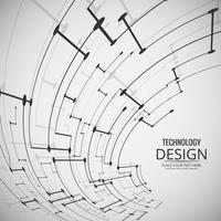 Illustration de conception abstraite technologie fond