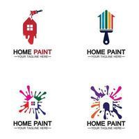 création de logo vectoriel de peinture à la maison
