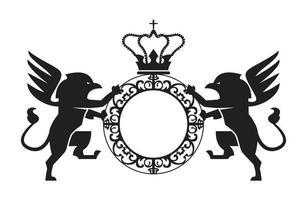 emblème avec des griffons vecteur