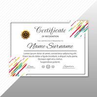 Modèle de certificat Premium attribue le vecteur de fond diplôme
