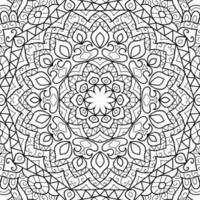 Doodle mandala design page de livre de coloriage pour adultes et enfants modèle de thérapie anti-stress abstrait zen enchevêtrement yoga méditation illustration vectorielle vecteur