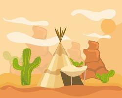 cactus tipi ouest vecteur