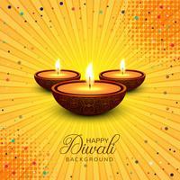 Beau vecteur de fond décoratif Diwali heureux