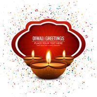 Vecteur de fond abstrait carte joyeux Diwali festival