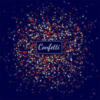 Fond transparent de beaux confettis colorés vecteur