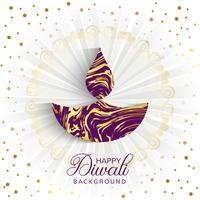 Fond de rayons décoratifs Happy Diwali élégant vecteur