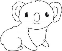 Coloriage koala pour enfants idéal pour un livre de coloriage pour débutant vecteur