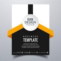 Modèle de carte brochure entreprise moderne élégant vecteur