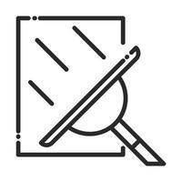 Verre de nettoyage avec icône de style de ligne hygiène domestique raclette vecteur