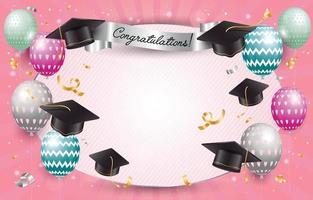 fond de photobooth de graduation plat heureux vecteur