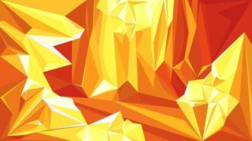 grotte avec diamants orange vecteur