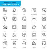 Simple Set Basic Line Icons pour sites Web et applications mobiles