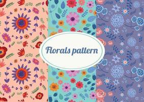 illustration vectorielle de fleurs colorées motif fond vecteur