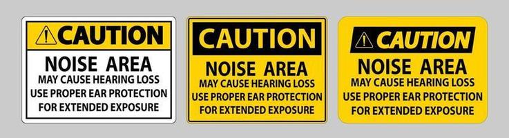 attention la zone de bruit du signe ppe peut entraîner une perte auditive utiliser une protection auditive appropriée pour une exposition prolongée vecteur