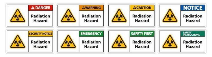 symbole de danger de rayonnement vecteur