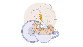 Vecteur de thé relaxant