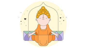 Vecteur de Bouddha