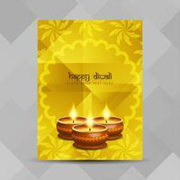 Modèle de conception de brochure abstrait joyeux Diwali vecteur