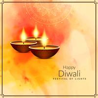 Abstrait religieux joyeux Diwali heureux