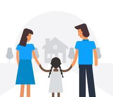 Vecteur de concept de sensibilisation à l'adoption internationale