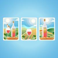Paysage de vigne vecteur